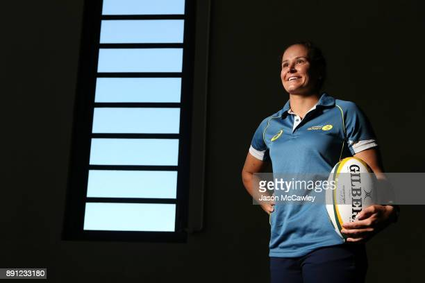 Shannon Parry of the Wallaroos poses after a Rugby Australia press conference at the Rugby Australia Building on December 13 2017 in Sydney Australia