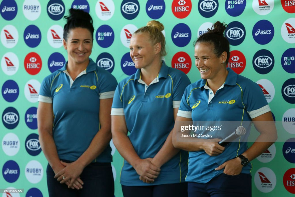 Shannon Parry of the Wallaroos speaks to the media during a Rugby Australia press conference at the Rugby Australia Building on December 13, 2017 in Sydney, Australia.