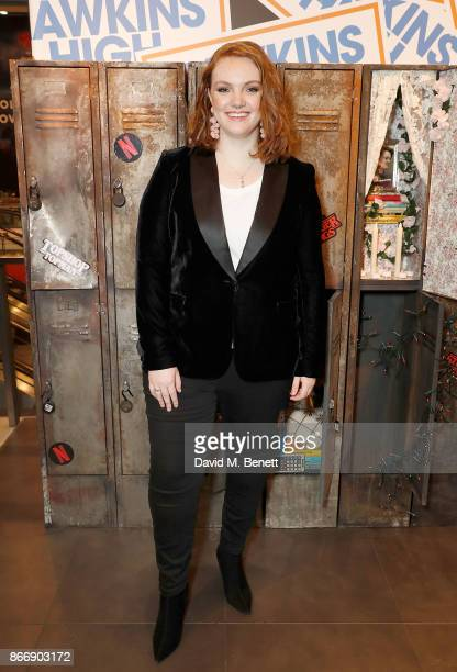 Shannon Purser aka Barb hosts the Stranger Binge event at TopShop Topman to mark the launch of Stranger Things 2 on Netflix on October 27 2017 in...