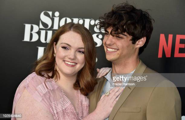 Shannon Purser and Noah Centineo attend the Premiere Of Netflix's Sierra Burgess Is A Loser at ArcLight Hollywood on August 30 2018 in Hollywood...