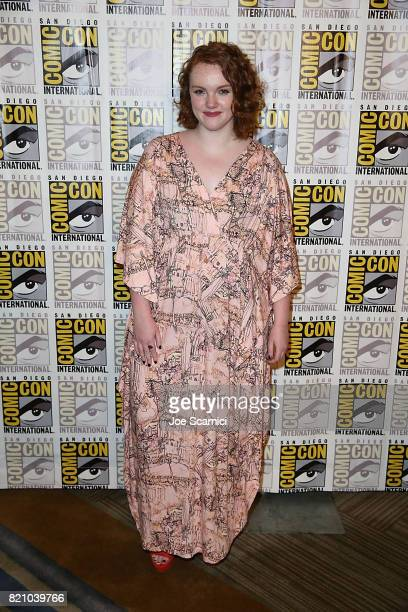 Shannon Purser arrives a the Stranger Things press line at ComicCon International 2017 on July 22 2017 in San Diego California