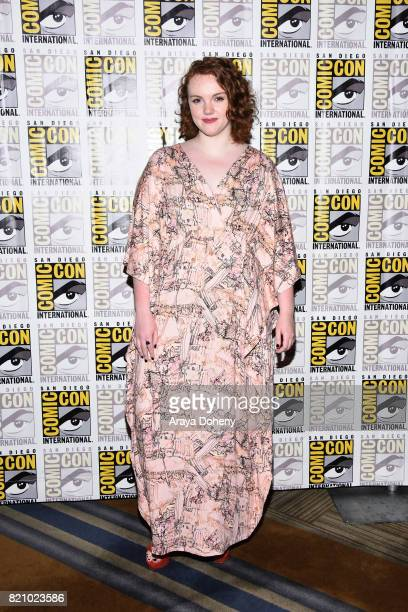 Shannon Purser attends the 'Stranger Things' press conference at ComicCon International 2017 on July 22 2017 in San Diego California
