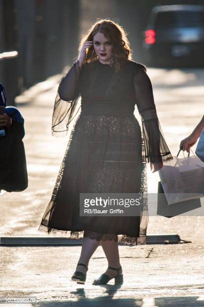 Shannon Purser is seen at 'Jimmy Kimmel LIve' on September 07 2018 in Los Angeles California