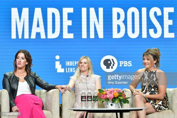 Shannon Rayner Nicole Williamson and Cindy Floyd of Made In Boise speak during the 2019 Summer TCA press tour at The Beverly Hilton Hotel on July 30...