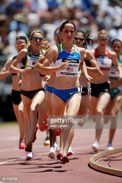 Shannon Rowbury en route to winning the Womens 1500m during the adidas Track Classic at the Home Depot Center on May 18 2008 in Carson California