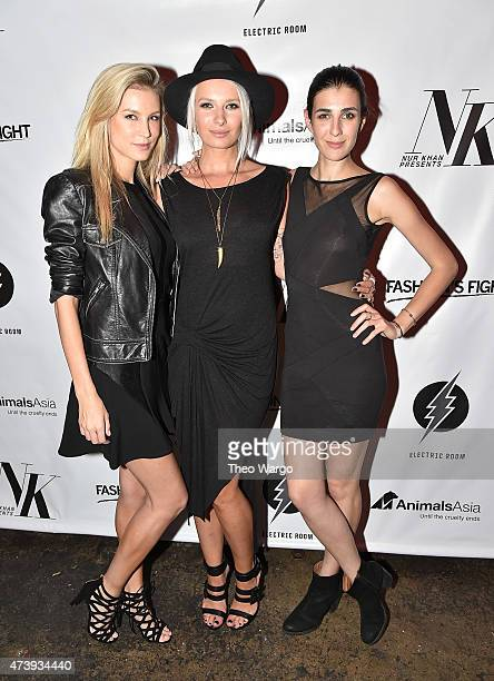Shannon Rusbuldt Katarina Benzova and Shania Danzinger attend Animals Asia Let A Bear Shit In The Woods Campaign at the Electric Room at Dream...