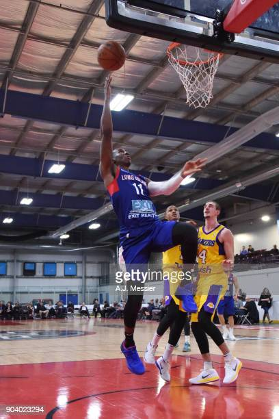 Shannon Scott of the Long Island Nets shoots the ball during the game against the South Bay Lakers at the NBA G League Showcase Game 11 on January 11...