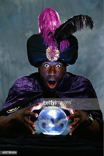 Shannon Sharpe of the Baltimore Ravens poses for a photo in Westminster, Maryland on August 8, 2001.