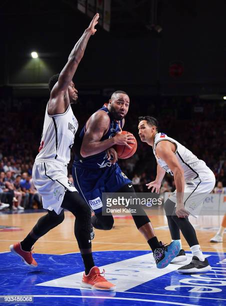 Shannon Shorter of the Adelaide 36ers drives to the basket during game two of the NBL Grand Final series between the Adelaide 36ers and Melbourne...