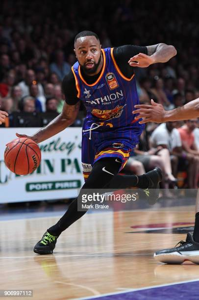 Shannon Shorter of the Adelaide 36ers during the round 15 NBL match between the Adelaide 36ers and the Illawarra Hawks at Titanium Security Arena on...