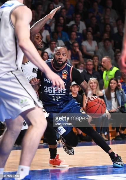 Shannon Shorter of the Adelaide 36ers pushes towards the basket during game four of the NBL Grand Final series between the Adelaide 36ers and...