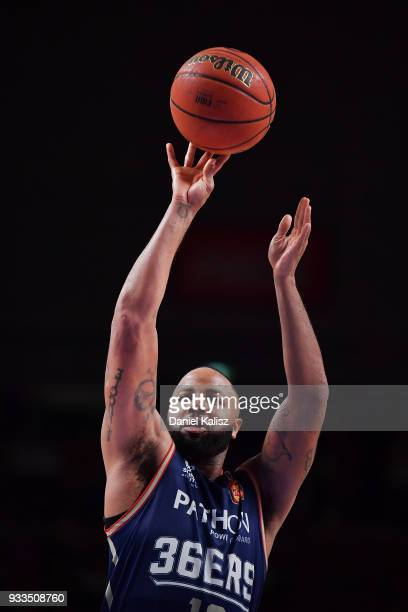 Shannon Shorter of the Adelaide 36ers shoots during game two of the NBL Grand Final series between the Adelaide 36ers and Melbourne United at...