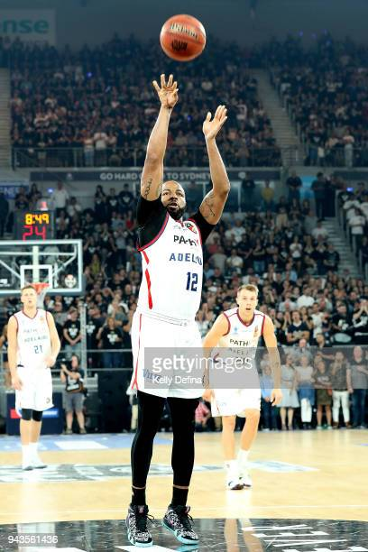 Shannon Shorter of the Adelaide 36ers shoots the ball during game five of the NBL Grand Final series between Melbourne United and the Adelaide 36ers...