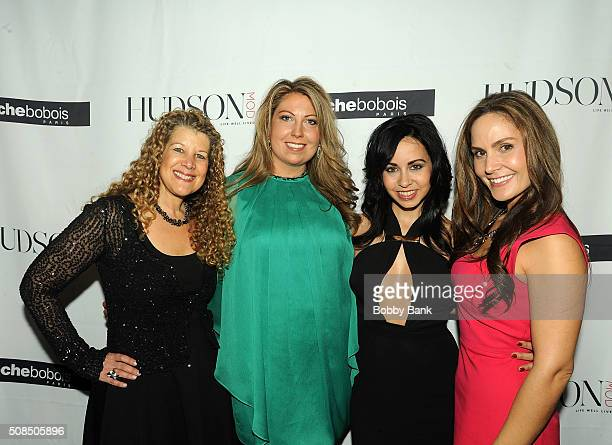 Shannon Steitz Publisher Hudson MOD Vanessa Deleon interior designer and Amber Milt fashion editor attends the Grand Opening Celebration at Roche...