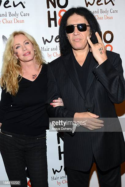 Shannon Tweed and Gene Simmons arrive at the NOH8s 4th Anniversary celebration at Avalon on December 12 2012 in Hollywood California