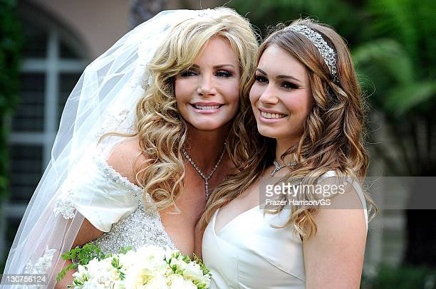 Shannon Tweed and Sophie Tweed Simmons attend the wedding of Gene Simmons and Shannon Tweed at the Beverly Hills Hotel on October 1 2011 in Los...