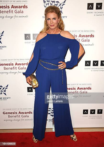 Shannon Tweed attends The Humane Society's 2013 Genesis Awards benefit gala at the Beverly Hilton Hotel on March 23, 2013 in Beverly Hills,...
