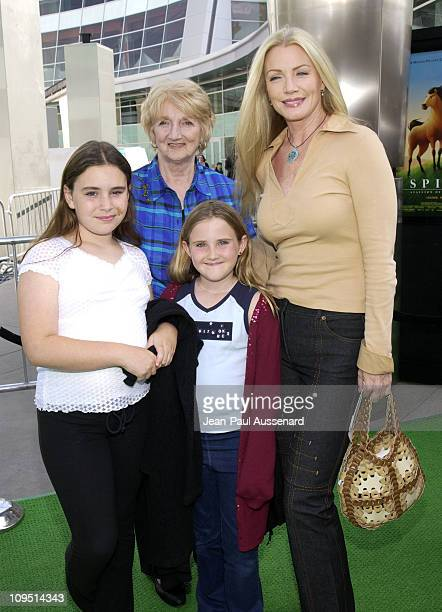 Shannon Tweed family during Spirit Stallion of The Cimarron Premiere at Arclight Cinerama Dome in Hollywood California United States