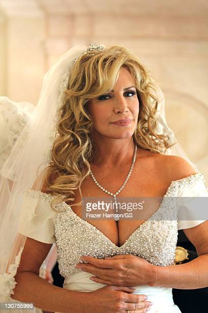 Shannon Tweed gets ready for her wedding to Gene Simmons at the Beverly Hills Hotel on October 1 2011 in Los Angeles California
