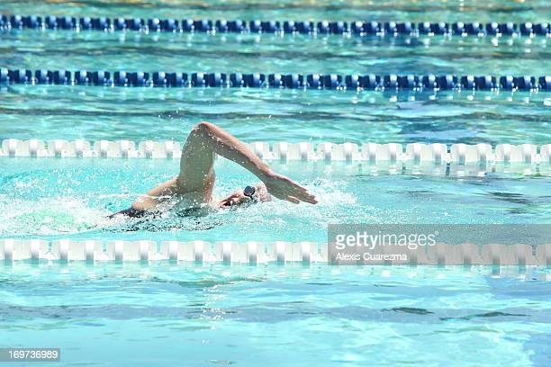 Shannon Vreeland competes in the women's 400 LC Meter Free style Prelims during Day Two of the Santa Clara International Grand Prix at the George F...