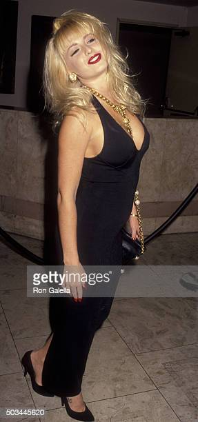 Shannon Wilsey attends Amber Lynn Birthday Party on September 2 1992 at the Bel Age Hotel in West Hollywood California