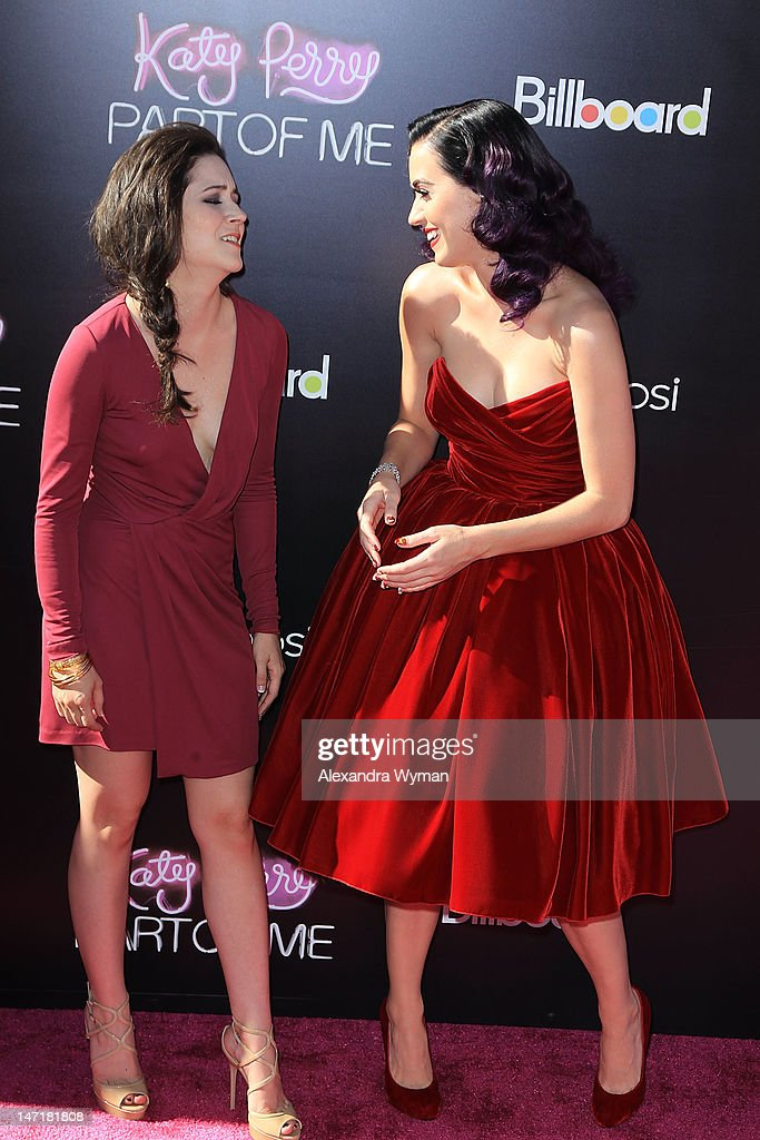 Shannon Woodward And Katy Perry Arrive At Katy Perry Part Of Me