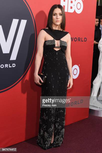 Shannon Woodward attends Westworld Season 2 Los Angeles Premiere on April 16 2018 in Los Angeles California
