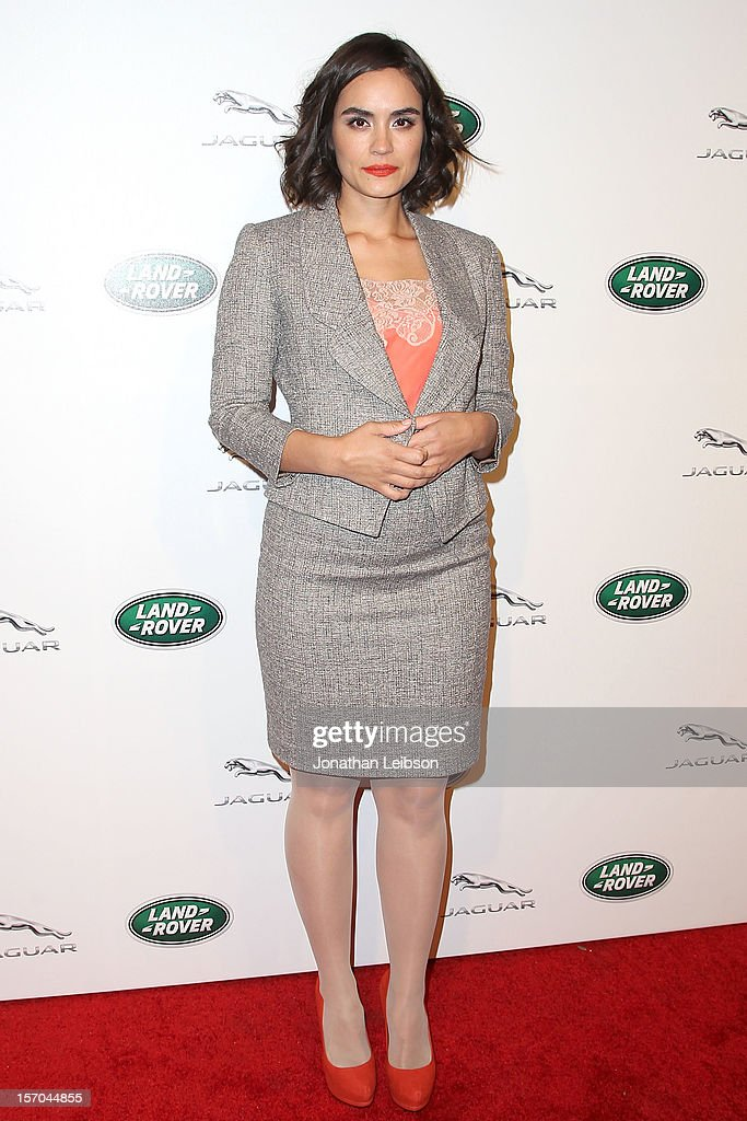 Shannyn Sossamon attends the Jaguar And Land Rover Celebrate 2012 Auto Show Arrivals At Paramount Studios at Paramount Studios on November 27, 2012 in Hollywood, California.