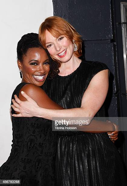 Shanola Hampton and Alicia Witt attend the 14th annual 'Les Girls' arrivals at Avalon on October 6 2014 in Hollywood California