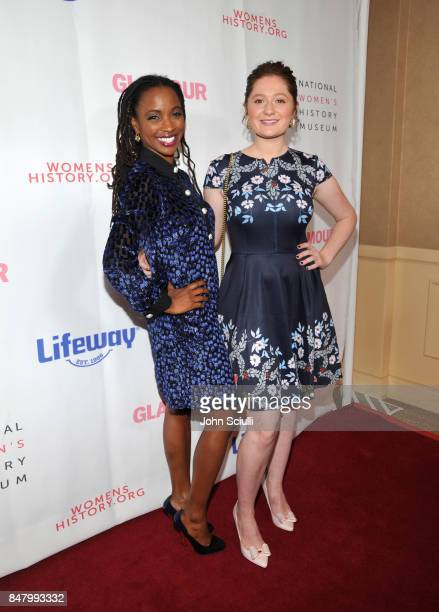 Shanola Hampton and Emma Kenney at the Women Making History Awards at The Beverly Hilton Hotel on September 16 2017 in Beverly Hills California