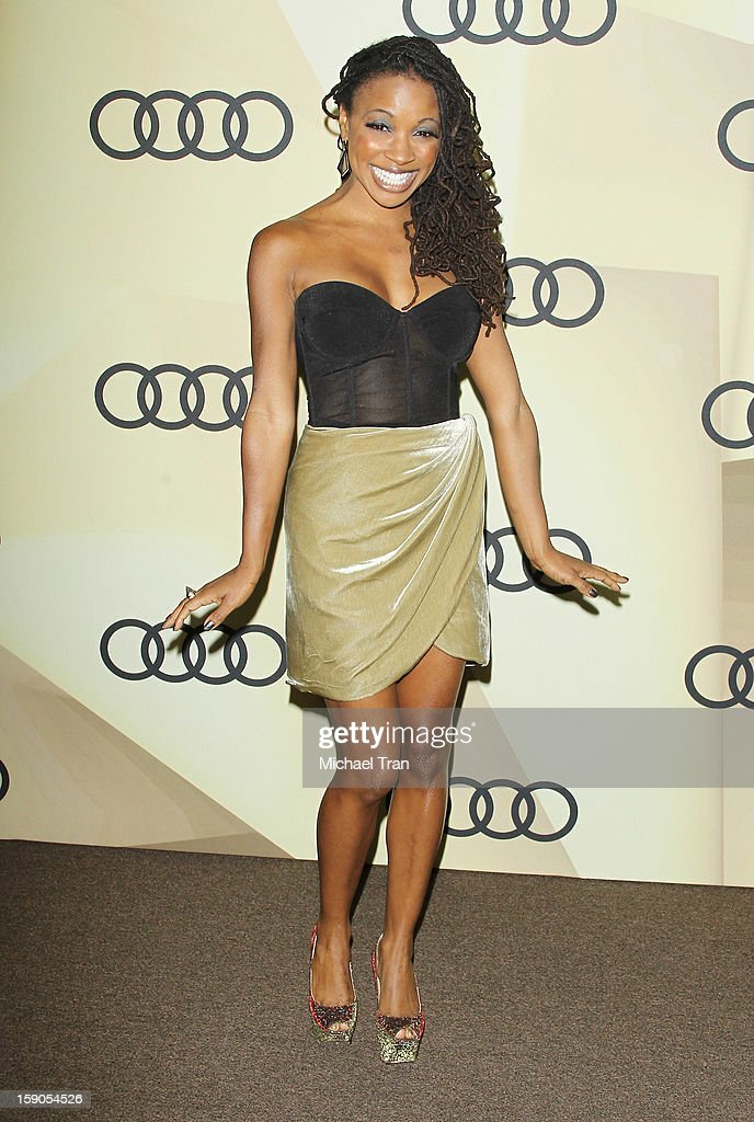 Shanola Hampton arrives at the Audi Golden Globe 2013 kick off cocktail party held at Cecconi's Restaurant on January 6, 2013 in Los Angeles, California.