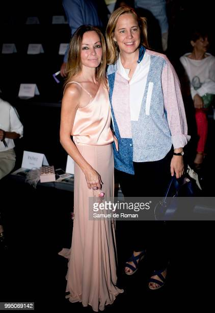 Shanon Cors and Sheila Loewe attend the Inunez show during Mercedes Benz Fashion Week Madrid Spring/Summer 2019 on July 10 2018 in Madrid Spain