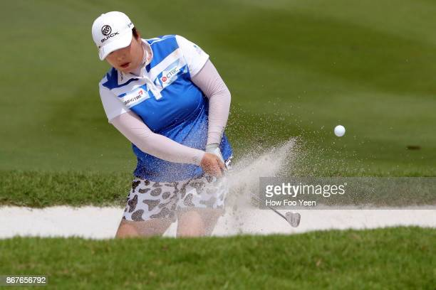 Shanshan Feng of China during day four of the Sime Darby LPGA Malaysia at TPC Kuala Lumpur East Course on October 29 2017 in Kuala Lumpur Malaysia