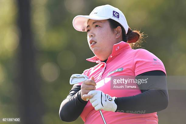 Shanshan Feng of China looks on during the final round of the TOTO Japan Classics 2016 at the Taiheiyo Club Minori Course on November 6 2016 in...