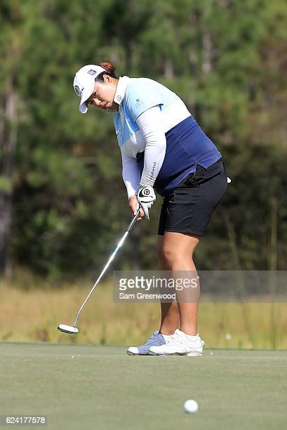 Shanshan Feng of China putts on the eighth hole during the second round of the CME Group Tour Championship at Tiburon Golf Club on November 18 2016...
