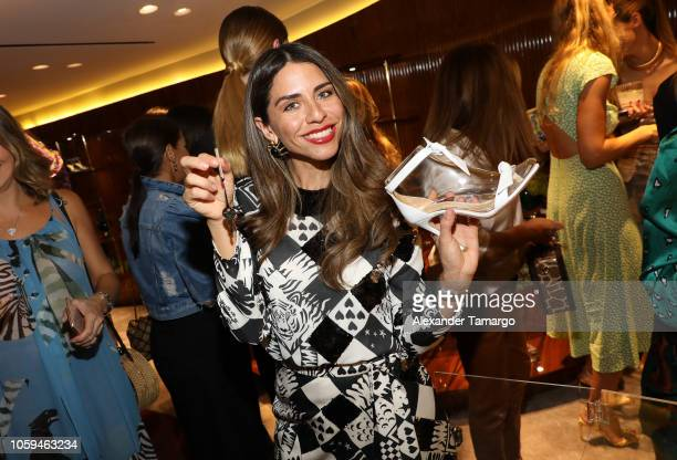 Shantall Lacayo is seen at the Alexandre Birman Bal Harbor Store Opening Event on November 8 2018 in Miami Florida