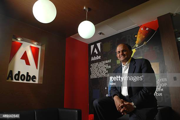 Shantanu Narayen President and CEO of Adobe Systems poses for a profile on February 4 2010 in Bangalore India