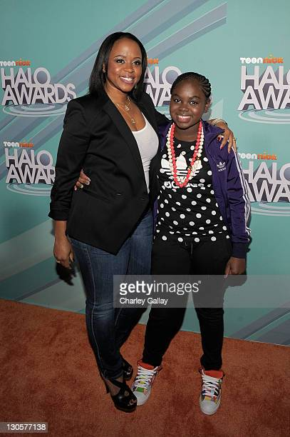 Shante Broadus and singer Cori Broadus arrive at the Nickelodeon's 2011 TeenNick HALO Awards held at the Hollywood Palladium on October 26 2011 in...