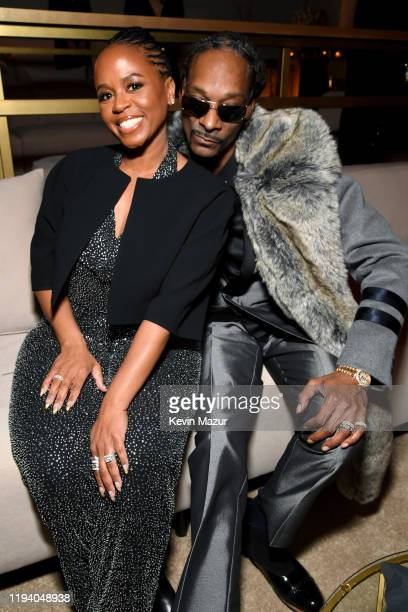 Shante Broadus and Snoop Dogg attend Sean Combs 50th Birthday Bash presented by Ciroc Vodka on December 14 2019 in Los Angeles California