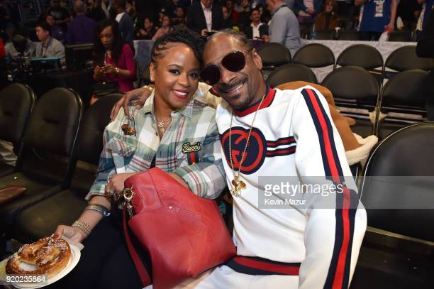 Shante Broadus and Snoop Dogg attend the 67th NBA AllStar Game Team LeBron Vs Team Stephen at Staples Center on February 18 2018 in Los Angeles...