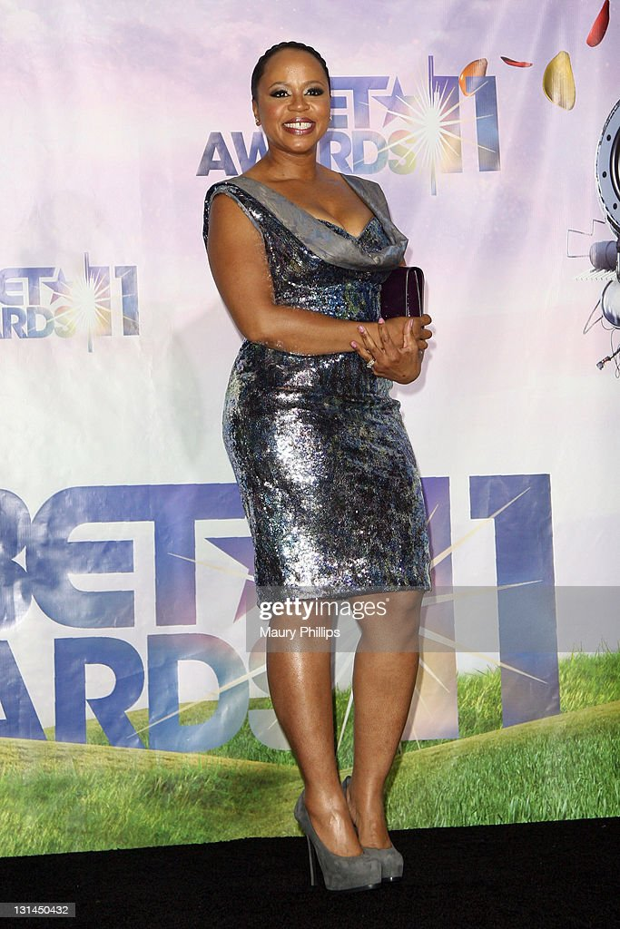 Shante Broadus poses in the press room at the BET Awards '11 held at The Shrine Auditorium on June 26, 2011 in Los Angeles, California.