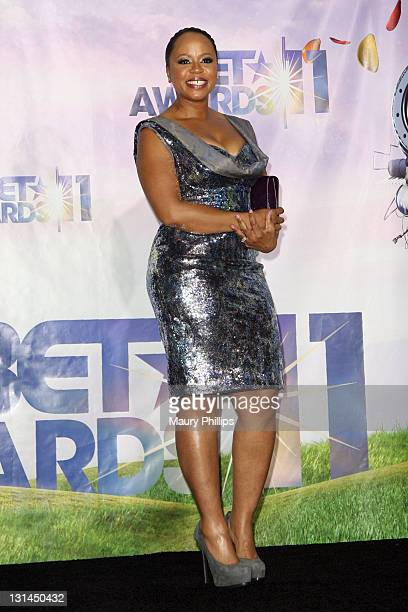 Shante Broadus poses in the press room at the BET Awards '11 held at The Shrine Auditorium on June 26 2011 in Los Angeles California