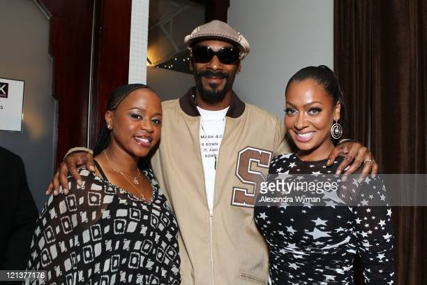 Shante Broadus Snoop Dogg and La La Anthony at La La's Full Court Life Premiere Party held at The Mark on August 18 2011 in Los Angeles California
