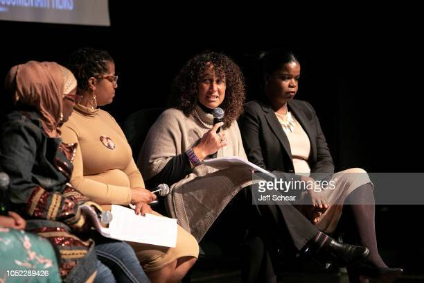 Shante Needham Ameena Matthews Andrea Ritchie and Kim Foxx attend Say Her Name The Life and Death of Sandra Bland Preview and Panel at The DuSable...