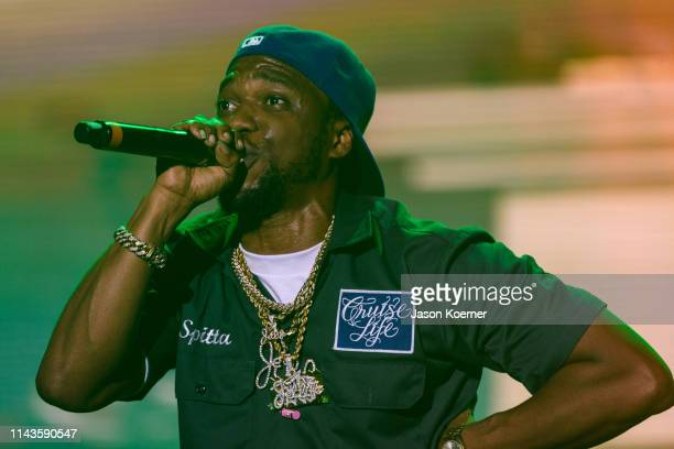 Shante Scott Franklin known by his stage name Curren$y performs during day three of Rolling Loud at Hard Rock Stadium on May 12 2019 in Miami Gardens...