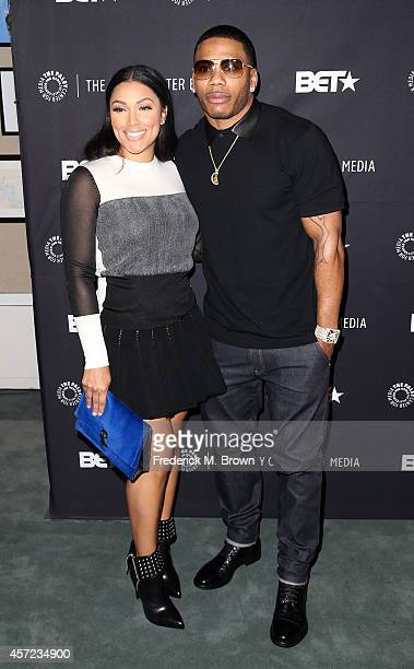 Shantel Jackson and actor Nelly attend The Paley Center for Media Presents An Evening with Real Husbands of Hollywood at The Paley Center for Media...