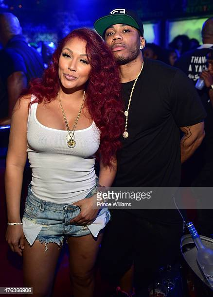 Shantel Jackson and Nelly attend at Compound on June 6 2015 in Atlanta Georgia