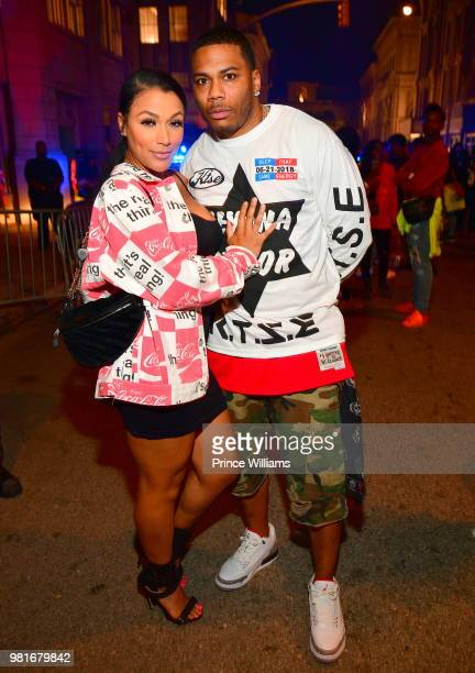 Shantel Jackson and Nelly attend Teyana Taylor Album Release Party at Universal Studios Hollywood on June 21 2018 in Universal City California