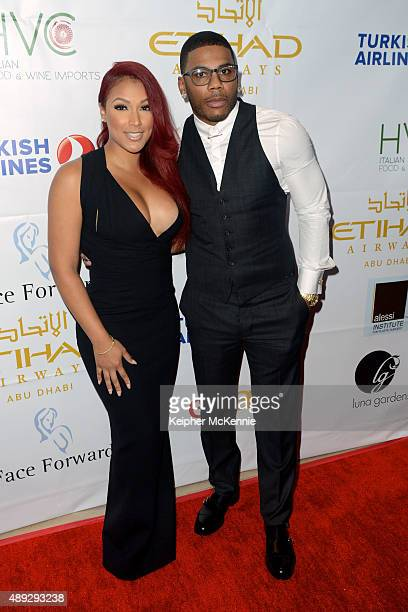 Shantel Jackson and recording artist Nelly attend Face Forward's 6th Annual Charity Gala at Millennium Biltmore Hotel on September 19 2015 in Los...