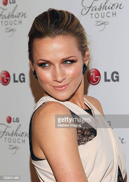 Shantel VanSanten arrives at the Victoria Beckham and Eva Longoria Parker Host a Night of Fashion and Technology with LG Mobile Phones at Soho House...